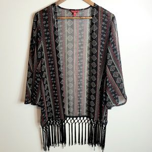 Guess Boho Fringe Kimono